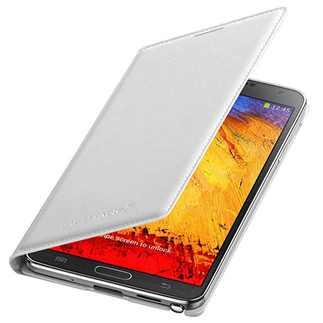 Samsung Original Flip Wallet for Note 3 N9005 White  EFWN900BWEGWW