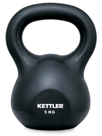 Kettler Βαράκι με Λαβή Kettle Bell Basic 5kg Μαύρο  7370075