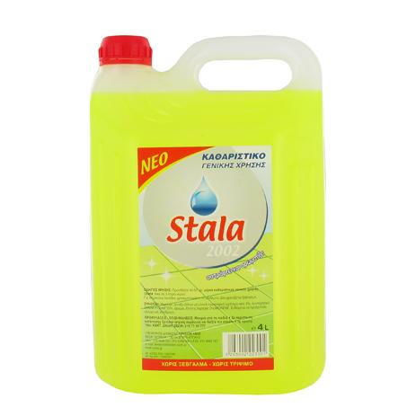 Stala, Καθαριστικό Γενικής Χρήσης με Άρωμα Λεμόνι, 4lt eidh kauariothtas kauaristika aporrypantika genikhs xrhshs