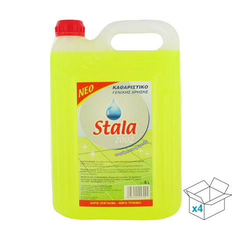 Stala, Καθαριστικό Γενικής Χρήσης με Άρωμα Λεμόνι, 4x4lt eidh kauariothtas kauaristika aporrypantika genikhs xrhshs