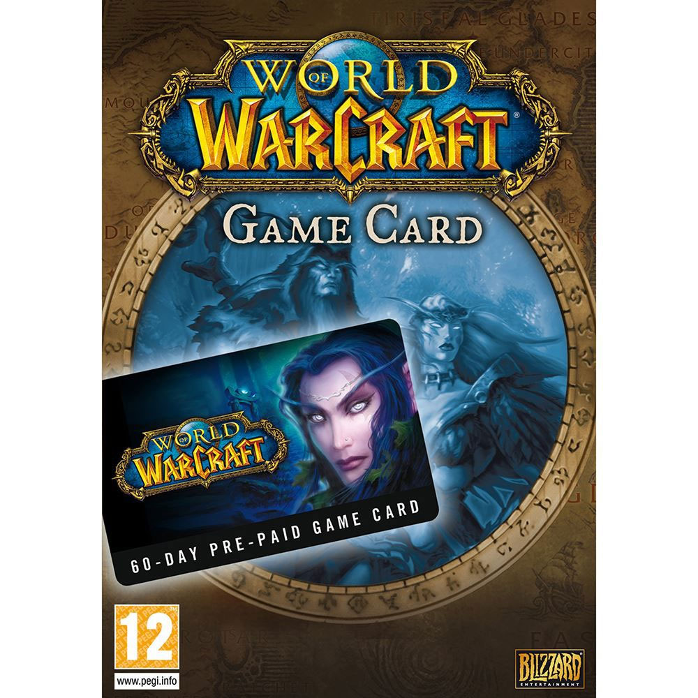Time Card 60 Days World Of WarCraft - PC Game gaming games paixnidia pc