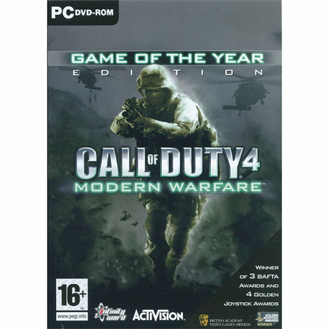 Call Of Duty 4 Modern Warfare Game of The Year - PC Game gaming games paixnidia pc