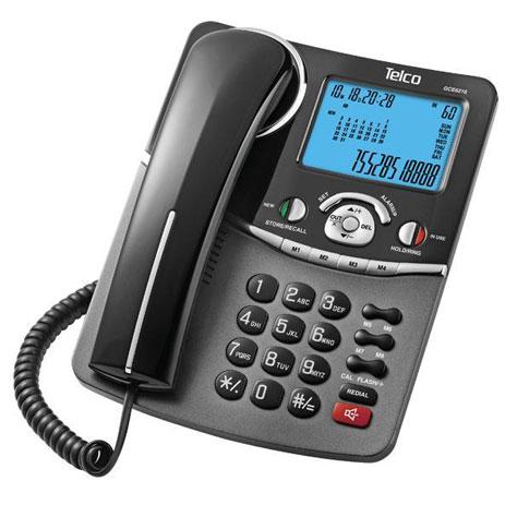 Telco, Τηλέφωνο GCE 6216 , Επιτραπέζιο Αναγνώριση Κλήσεων , Χρώμα Μαύρο. hlektrikes syskeyes texnologia stauerh thlefonia thlefona
