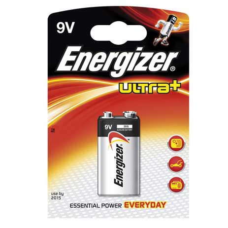 Energizer, Μπαταρία Ultra+ Power Seal 9V (638204) Energizer, Battery Ultra+ Powe bibliopoleio perifereiaka grafeioy mpataries