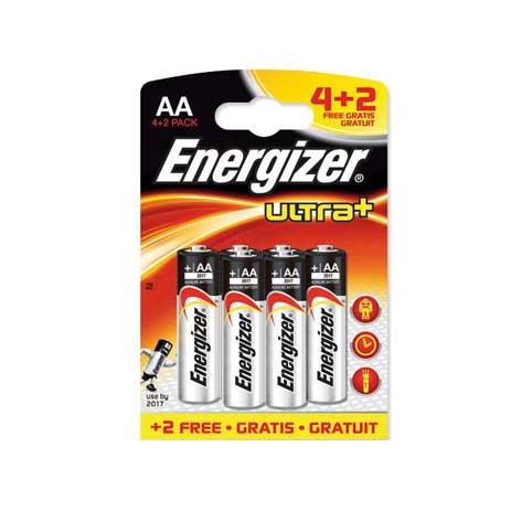 Energizer, Μπαταρία Ultra+ Power Seal AA, 4+2 Δώρο bibliopoleio perifereiaka grafeioy mpataries