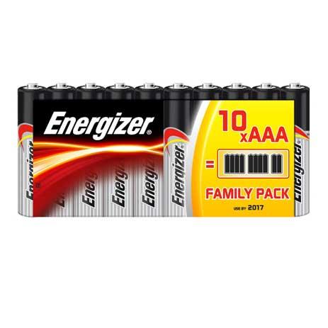 Energizer, Μπαταρία Classic Αλκαλική AAA, Family Pack 10τμχ Energizer, Battery C bibliopoleio perifereiaka grafeioy mpataries