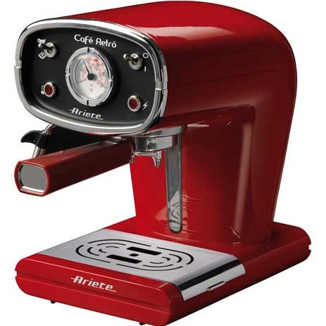 Μηχανή Espresso-Cappuccino Ariete Retro 1388 Red hlektrikes syskeyes texnologia oikiakes syskeyes kafetieres