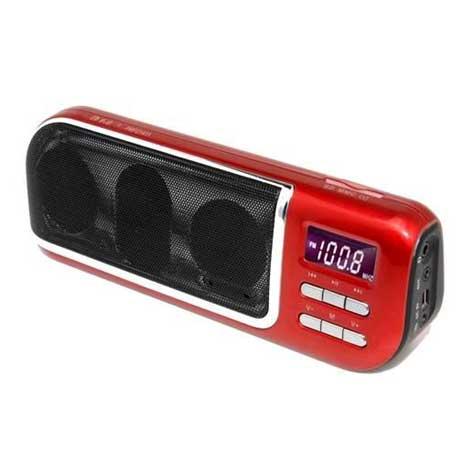 Φορητό Ραδιόφωνο-Media Player F&U PMP21411, USB, Card Reader, Κόκκινο hlektrikes syskeyes texnologia eikona hxos radiocdhi fi