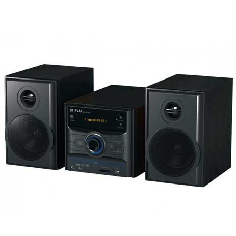 Mini Hi-Fi με DVD F&U DMV9777KUC hlektrikes syskeyes texnologia eikona hxos radiocdhi fi