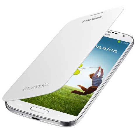 Samsung Original Flip Cover for Samsung Galaxy S4 i9500 White (EF-FI950BWEG) hlektrikes syskeyes texnologia kinhth thlefonia prostateytikes uhkes