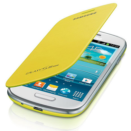 Samsung Original Flip Cover for Samsung Galaxy S3 Mini, Yellow (EFC-1M7FYEGSTD)