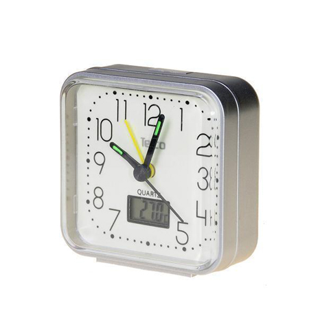 Telco Ρολόι Με Ξυπνητήρι-Θερμόμετρο XG8676G Ασημί paixnidia hobby gadgets jypnhthria
