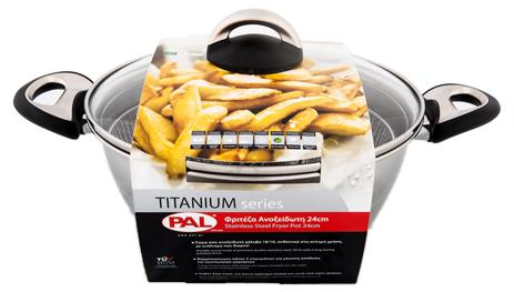 PAL Φριτέζα Ανοξείδωτη Titanium 24cm