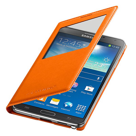 Samsung Original Flip S View for Samsung Note 3 N9005, Wild Orange (EF-CN900BOEG hlektrikes syskeyes texnologia kinhth thlefonia prostateytikes uhkes
