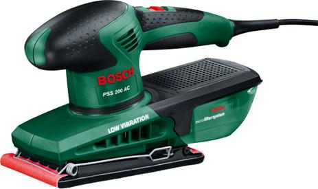 Τριβείο Παλμικό Bosch PSS 200 AC & Βαλίτσα (200w)