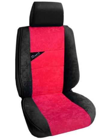 Πλατοκάθισμα Αυτοκινήτου Τύπου Αλκαντάρα Coverstyle 9800-26 Κόκκινο, 2τμχ aytokinhto mhxanh esoteriko aytokinhtoy platokauismata