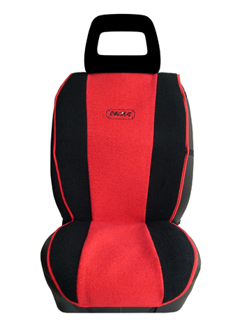 Πλατοκάθισμα Αυτοκινήτου Πετσέτα Δίχρωμη Coverstyle 9800-20 Κόκκινο, 2τμχ aytokinhto mhxanh esoteriko aytokinhtoy platokauismata
