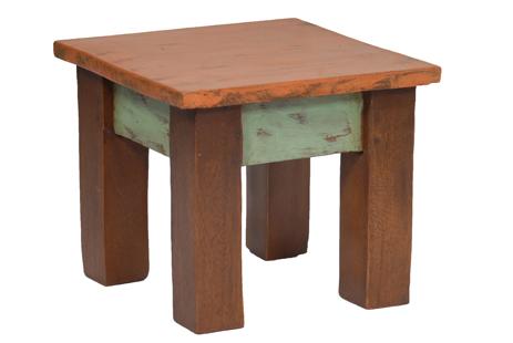 Τετράγωνο Σκαμπώ, TS 003B, Ύψος 22cm, Χρώμα Πορτοκαλί Πράσινο Καφέ