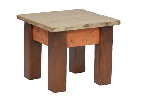 Τετράγωνο Σκαμπώ, TS 003A, Ύψος 22cm, Χρώμα Μπεζ Πορτοκαλί Καφέ