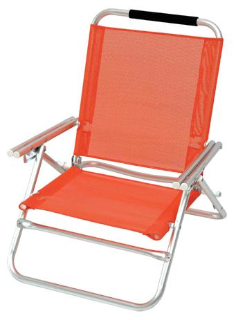 Καρεκλάκι Αλουμινίου 4 Θέσεων Text 141-0874-2 Χρώμα Πορτοκαλί khpos outdoor camping epoxiaka camping karekles paralias