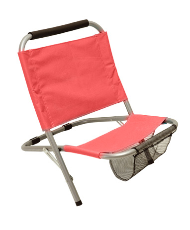 Velco 142-4132 Καρεκλάκι Μεταλλικό Με Θήκη Χρώμα Κόκκινο khpos outdoor camping epoxiaka camping karekles paralias