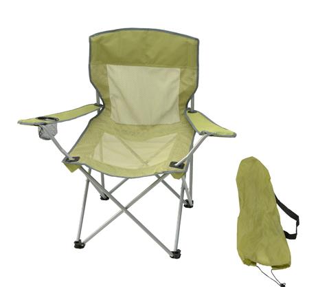 Velco 153-4865 Πολυθρόνα Ενισχυμένη Με Θήκη Ποτηριού Χρώμα Πράσινο khpos outdoor camping epoxiaka camping karekles paralias