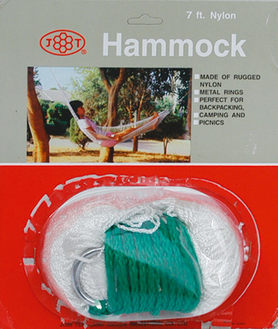 Velco Αιώρα Nylon Απλή Πλεχτή Σε Blister 190x80cm khpos outdoor camping epoxiaka camping aiores