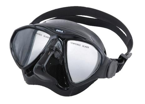 Μάσκα Orca Σιλικόνης Χρώμα Μαύρο Εσωτερικού Όγκου 65cm paixnidia hobby diving maskes