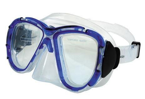 Μάσκα Σιλικόνης Teka Εσωτερικού Όγκου 105cm Χρώμα Διαφανή -Μπλε (61013) paixnidia hobby diving maskes