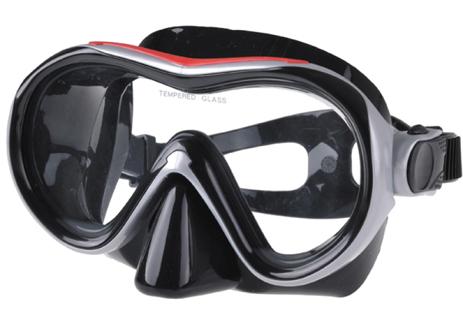 Μάσκα Σιλικόνης Lindo Εσωτερικού Όγκου 105cm Χρώμα Μαύρο-Κόκκινο-Ασημί paixnidia hobby diving maskes