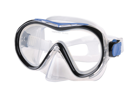 Μάσκα Σιλικόνης Lindo Εσωτερικού Όγκου 105cm Χρώμα Μαύρο-Μπλε-Διαφανές (61102)