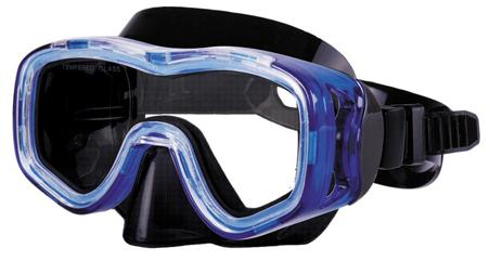 Μάσκα Targa Από TPP Χρώμα Μπλε-Διαφανές paixnidia hobby diving maskes