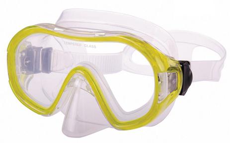 Μάσκα Παιδική Saxo Από TPP Χρώμα Κίτρινο paixnidia hobby diving maskes