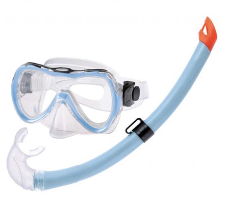 Σετ Παιδικο Μάσκας Σιλικόνης - Αναπνευστήρα Samy Χρώμα Μπλε paixnidia hobby diving set