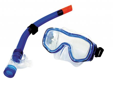 Σετ Μάσκα TPP Αναπνευστήρα Mora Χρώμα Μπλε -Διαφανές paixnidia hobby diving set