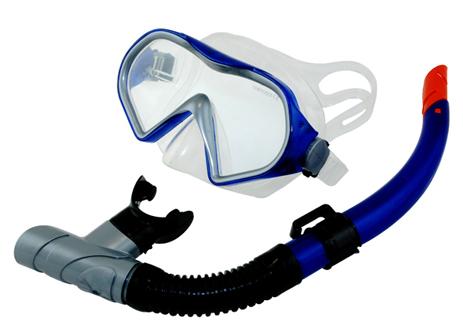 Σετ Μάσκα TPP Αναπνευστήρα Coby Χρώμα Μπλε (61528) paixnidia hobby diving set