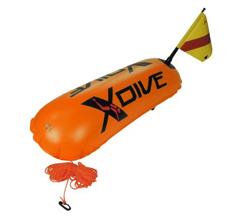 Σημαδούρα Υποβρύχιας Δραστηριότητας Από Pvc 0,4mm Χρώμα Πορτοκαλί paixnidia hobby diving ajesoyar