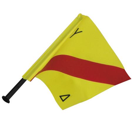Σημαιάκι Με Ιστό Κίτρινο -Κόκκινο Με Διακριτικά paixnidia hobby diving ajesoyar