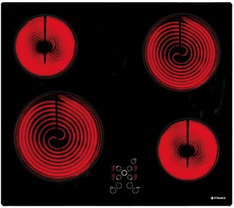 Κεραμική Εστία Pyramis 58HL 436, Αφής Χωρίς Πλαίσιο, 030025401 hlektrikes syskeyes texnologia oikiakes syskeyes foyrnoi esties