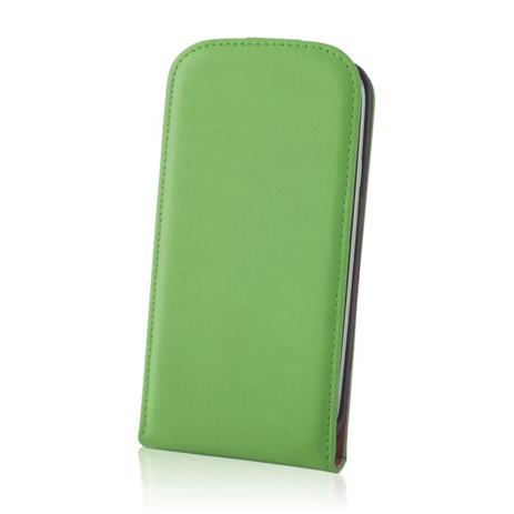 Θήκη Flip Deluxe για Samsung Galaxy S5 Mini Green hlektrikes syskeyes texnologia kinhth thlefonia prostateytikes uhkes