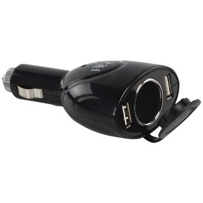 Universal Φορτιστής Αυτοκινήτου Δύο Θύρες USB, 500Mah Με Βύσμα 12V P.SUP.USB 202 ergaleia kataskeyes hlektrologikos ejoplismos trofodotika