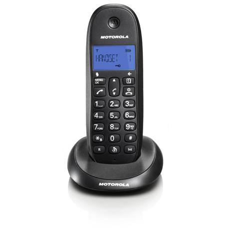 Ασύρματο Τηλέφωνο Motorola C1001LB, Μαύρο