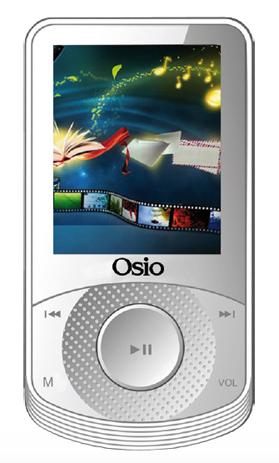 MP4 Player Osio SRM-8580W, Λευκό hlektrikes syskeyes texnologia eikona hxos mp3mp4 player
