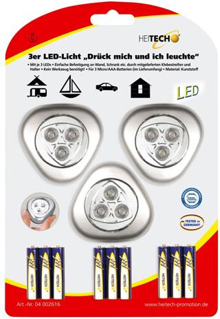 Φωτάκι Led Heitech 04002616, 3τμχ paixnidia hobby gadgets fakoi