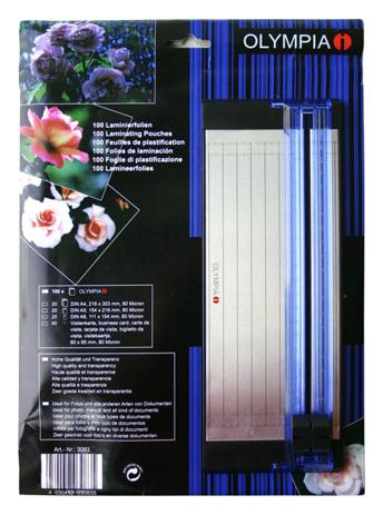 Σετ Μηχάνημα Κοπής με Φύλλα Πλαστικοποίησης Olympia 2 in 1 bibliopoleio eidh grafeioy plastikopoihshuermokollhsh