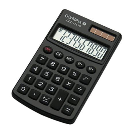Αριθμομηχανή Τσέπης Olympia LCD-1110, Χρώμα Μαύρο bibliopoleio eidh grafeioy ariumomhxanes
