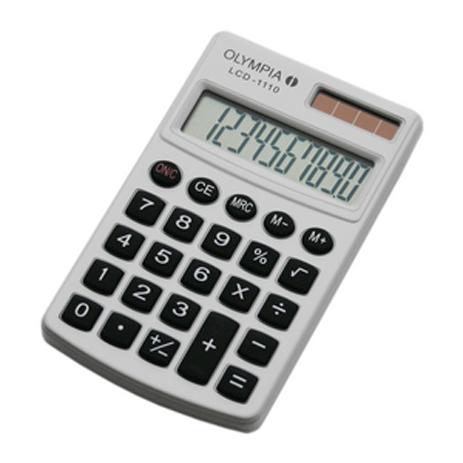 Αριθμομηχανή Τσέπης Olympia LCD-1110w, Λευκή bibliopoleio eidh grafeioy ariumomhxanes