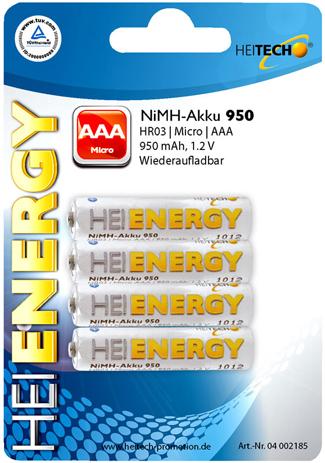 Επαναφορτιζόμενες Mπαταρίες Τύπου ΑAA/HR03/Micro Heitech 04002185 bibliopoleio perifereiaka grafeioy mpataries