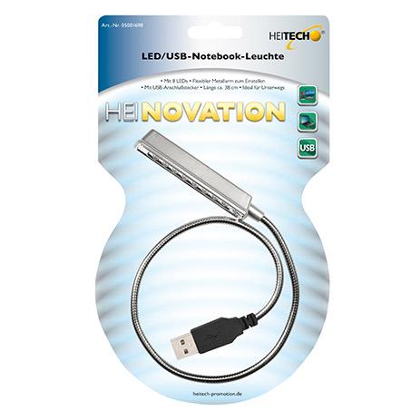 Φωτάκι USB 8 Led Heitech 05001698 για Notebook hlektrikes syskeyes texnologia perifereiaka ypologiston ajesoyar