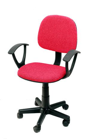 Καρέκλα Γραφείου με Μπράτσα Velco Κ08635-4, Κόκκινη